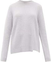 Acne Studios Kerna Side-seam Brushed Sweater - Womens - Light Blue