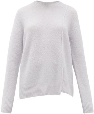 Acne Studios Kerna Side-seam Brushed Sweater - Light Blue