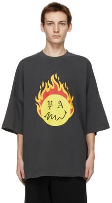 Palm Angels Black Smiley Edition Burning Head T-Shirt