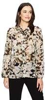 Ellen Tracy Women's Shirred Yoke Shirt