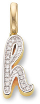 Monica Vinader Diamond Alphabet Pendant H
