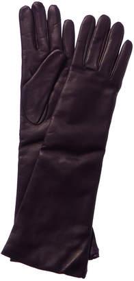 Portolano Italian Leather Cashmere-Lined Long Glove