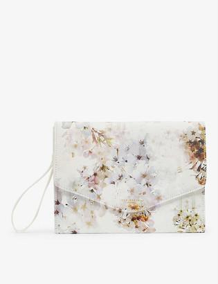 Ted Baker Sunniva Vanilla-print pouch