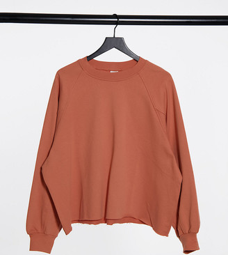 Collusion Plus exclusive colour oversized sweat in blush