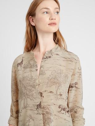 Banana Republic Petite Washable Silk Shirt
