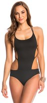 Indah Maisha Solid Matte Strappy One Piece Swimsuit 8145809