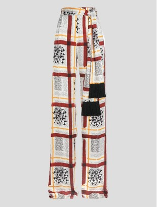 Mother of Pearl Wendy Wideleg Trousers With Tassel Belt