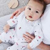 The White Company London Bear Sleepsuit & Bib Set