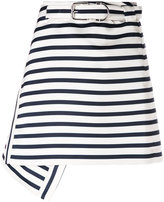 Carven striped A-line skirt - women - Polyester/Acetate/Viscose - 38