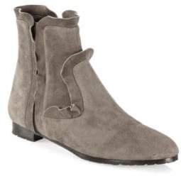 Aquazzura Suede Leather Flat Booties