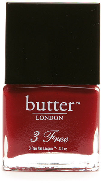 Butter London 3 Free Nail Lacquer, The Black Knight 0.4 fl oz (9 ml)