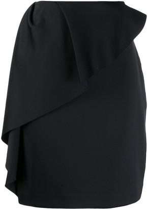 Lanvin ruffle trim pencil skirt
