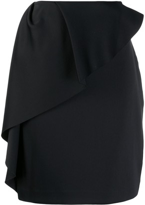 Lanvin Ruffle Trim Pencil Skirt