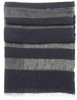 Hugo Boss Nies Wool Modal Boucle Stripe Scarf One Size Blue