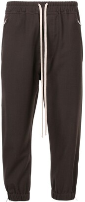 Rick Owens Cropped Tapered Track Pants