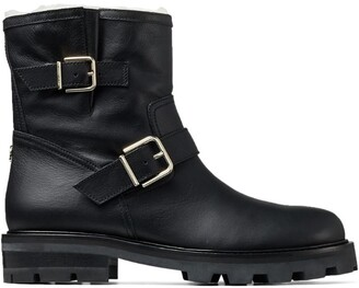 Jimmy Choo Youth Ii Leather Biker Boots