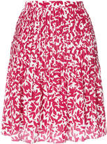 Oscar de la Renta printed pintuck skirt