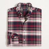 J.Crew Factory Slim plaid oxford shirt