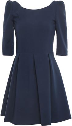 BA&SH Vadea Open-back Pleated Cady Mini Dress
