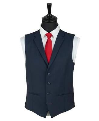 Gibson London Twill Plain Waistcoat Colour: NAVY, Size: 36R