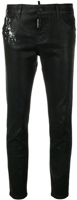 DSQUARED2 paint splat skinny jeans