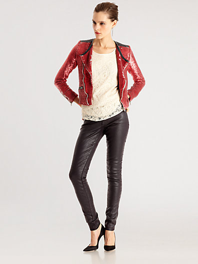 IRO Longina Sequin Motorcycle Jacket