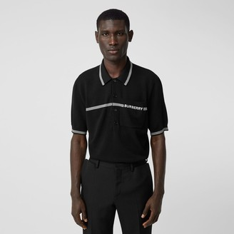 Burberry Logo Embroidered Wool Polo Shirt