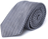 Boss Charcoal Grey Fine Checked 6cm Tie