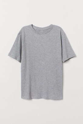 H&M Relaxed T-shirt - Gray