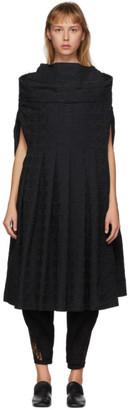 Comme des Garcons Black Pleated Logo Dress