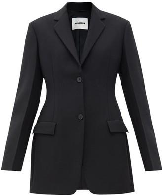 Jil Sander Hourglass-waist Wool-serge Jacket - Black