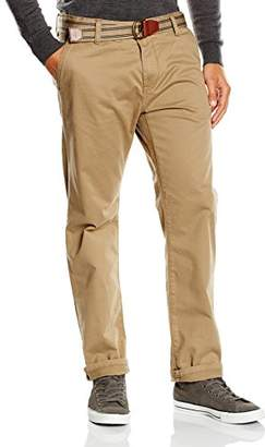 Tom Tailor Men's Chino Pants with belt/508 Trousers, (Honey Camel Beige 8206)