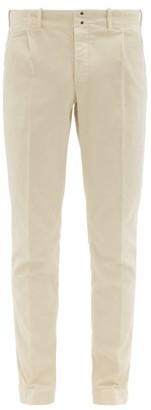Incotex Verve Slim Fit Moleskin Trousers - Mens - Beige