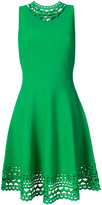 Milly laser-cut trim sleeveless dress - women - Polyester/Viscose - XS