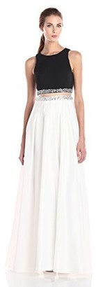 Decode 1.8 Women's Mock Two Piece Long Gown