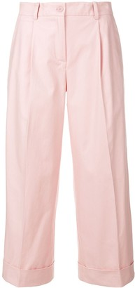 P.A.R.O.S.H. side-stripe cropped trousers