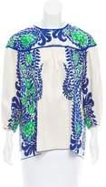 Anna Sui Printed Long Sleeve Top