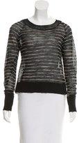 A.L.C. Semi-Sheer Striped Sweater