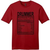 ThisWear Drummer Gift Nutritional Facts Gag Gifts Funny Young Mens T-Shirt ClRed