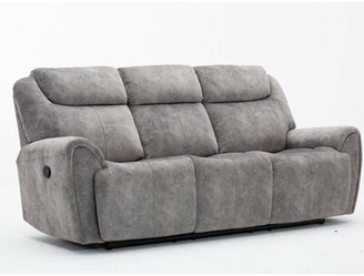 Red Barrel Studio Paradise Reclining Sofa Upholstery Color: Gray