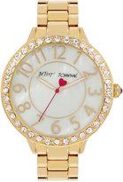 Betsey Johnson Women's Gold-Tone Bracelet Watch 41mm BJ00397-26