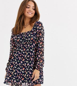 Wednesday's Girl square neck dress in vintage floral