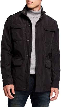 Kenneth Cole New York Men's Utility Fold-Out Hood Jacket