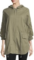 Romeo & Juliet Couture 3/4-Sleeve Embroidered Cargo Jacket