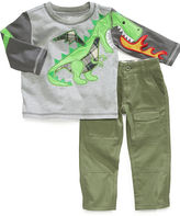 Nannette Baby Set, Baby Boys 2-Piece Long-Sleeved Dragon Shirt and Pants