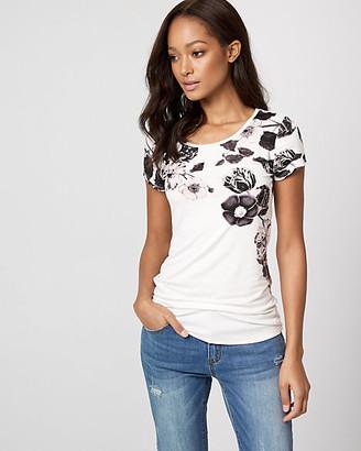 Le Château Floral Print Jersey Crew Neck T-Shirt