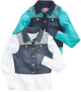 Heart And Soul Heart & Soul Girls' 2-Piece Denim Vest & Long-Sleeve Shirt Set