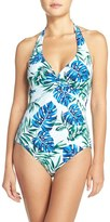 Tommy Bahama Women's Fronds Floating Halter One-Piece Swimsuit