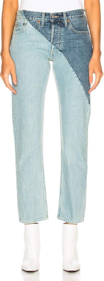 Vetements x Levis Cross Cut Jeans