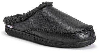 Muk Luks Faux Leather Scuff Slipper